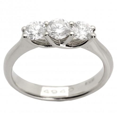 Каблучка з декількома діамантами 941-0588