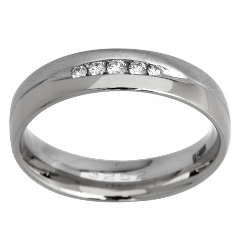 Обручка з декількома діамантами 941-0908