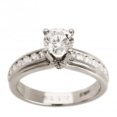 Каблучка з декількома діамантами 941-0935