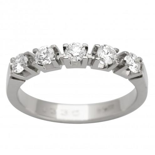Каблучка з декількома діамантами 941-1067