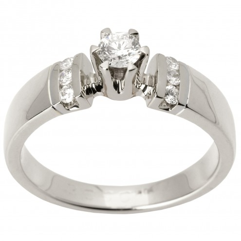 Каблучка з декількома діамантами 941-1426