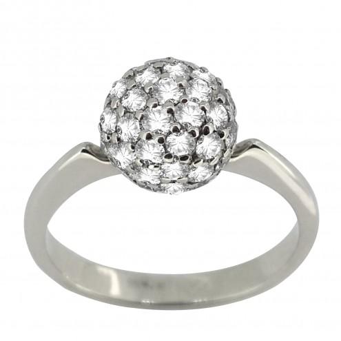Каблучка з декількома діамантами 941-1482