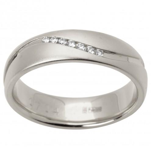 Обручка з декількома діамантами 941-1506