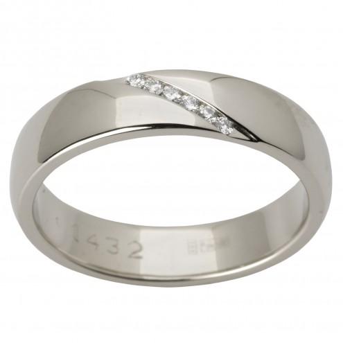 Обручка з декількома діамантами 941-1514