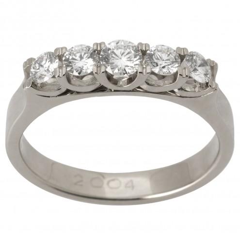 Каблучка з декількома діамантами 941-1529