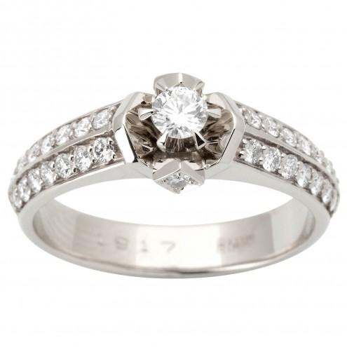 Каблучка з декількома діамантами 941-1611