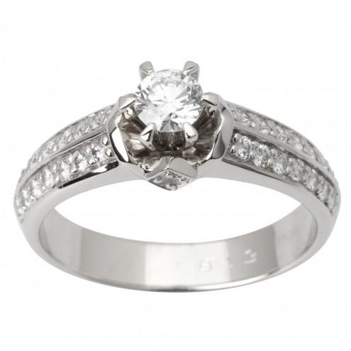Каблучка з декількома діамантами 941-1729