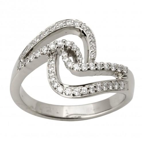 Каблучка з декількома діамантами 941-1740