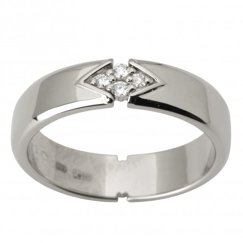 Обручка з декількома діамантами 941-1788
