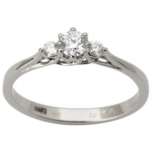 Каблучка з декількома діамантами 941-1811