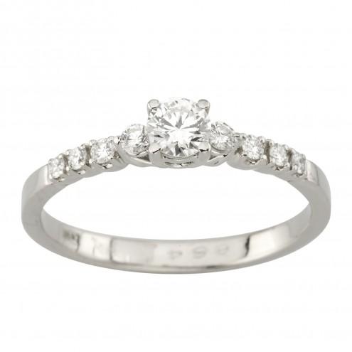 Каблучка з декількома діамантами 941-2040