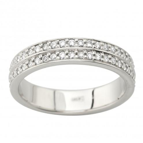 Каблучка з декількома діамантами 941-2067