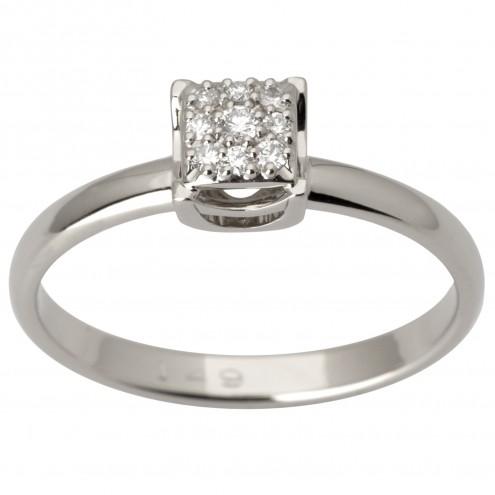 Каблучка з декількома діамантами 941-3001