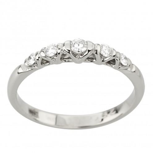 Каблучка з декількома діамантами 941-3019