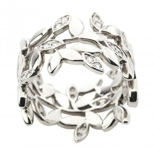 Каблучка з декількома діамантами 941-3026