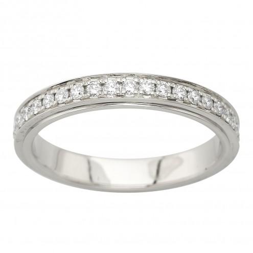 Обручка з декількома діамантами 941-4005