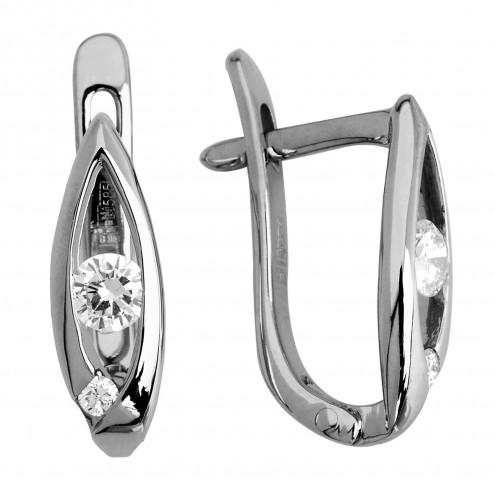 Сережки з декількома діамантами 942-0398