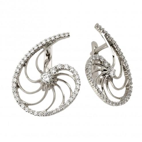 Сережки з декількома діамантами 942-0816