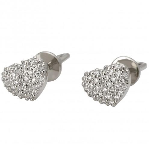 Сережки з декількома діамантами 942-0838