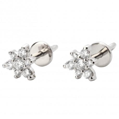 Сережки з декількома діамантами 942-0916