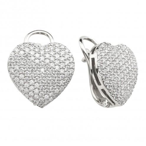 Сережки з декількома діамантами 942-1382
