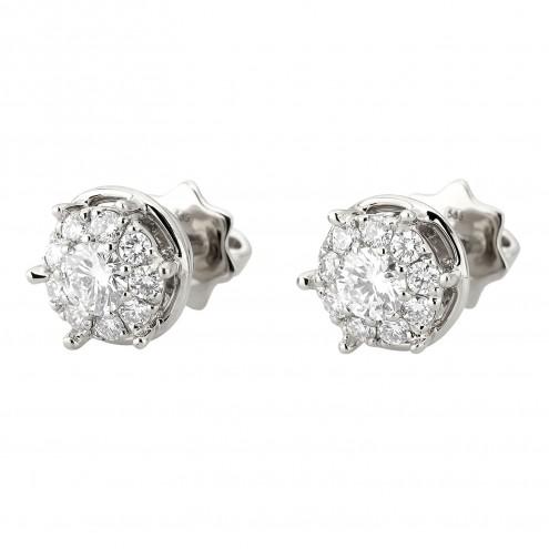 Сережки з декількома діамантами 942-2026