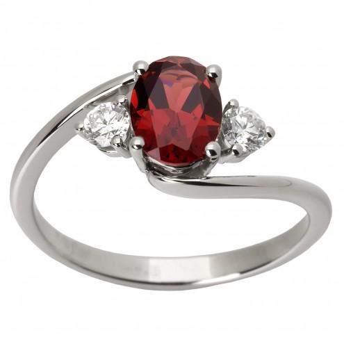 Каблучка з діамантами та кольоровим камінням 981-1220