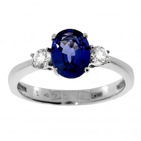Каблучка з діамантами та кольоровим камінням 981-1269