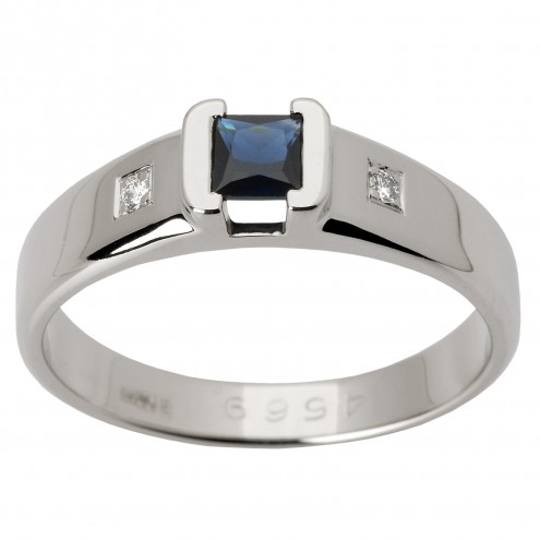 Перстень з діамантами та кольоровим камінням 981-1357