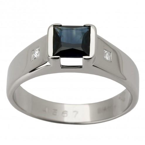 Перстень з діамантами та кольоровим камінням 981-1362