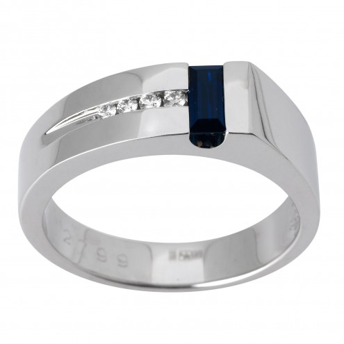 Перстень з діамантами та кольоровим камінням 981-1428