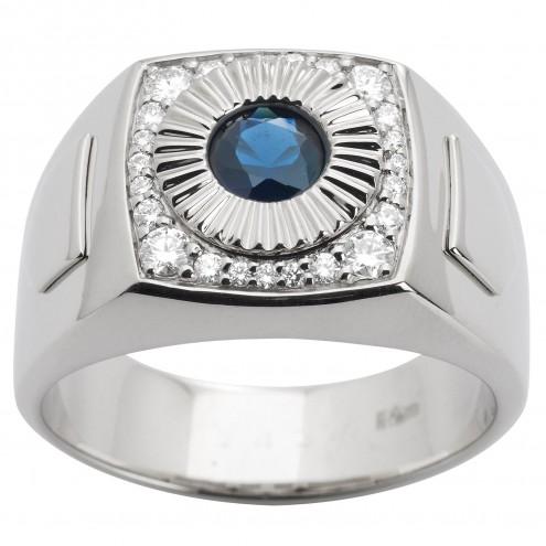 Перстень з діамантами та кольоровим камінням 981-1469