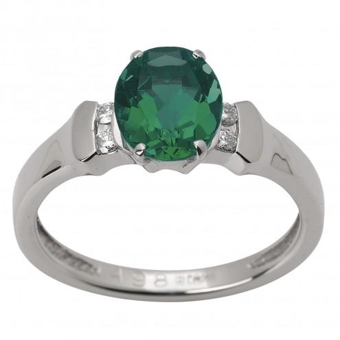 Каблучка з діамантами та кольоровим камінням 981-1515