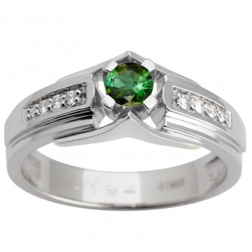 Каблучка з діамантами та кольоровим камінням 981-1619