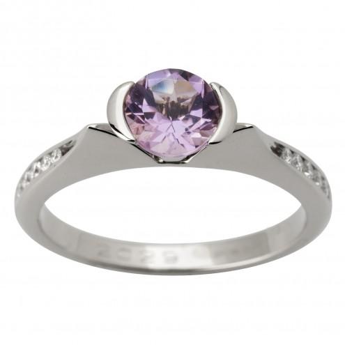 Каблучка з діамантами та кольоровим камінням 981-1630