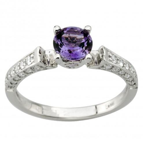 Каблучка з діамантами та кольоровим камінням 981-1992