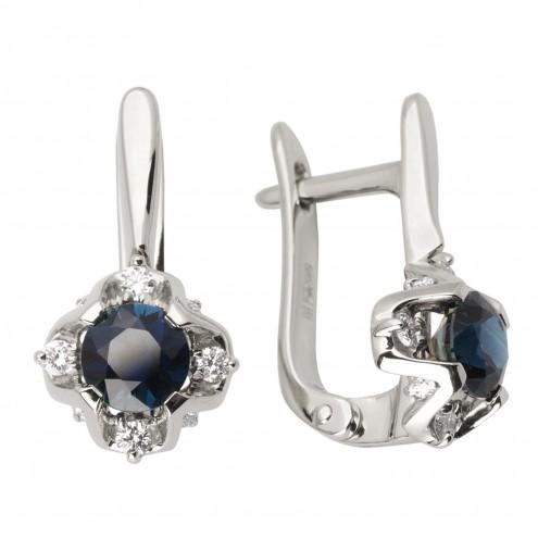 Сережки з діамантами та кольоровим камінням 982-1023