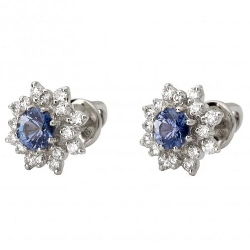 Сережки з діамантами та кольоровим камінням 982-1027