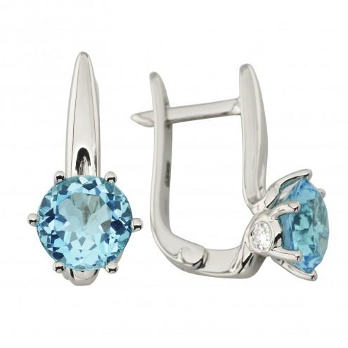 Сережки з діамантами та кольоровим камінням 982-1218