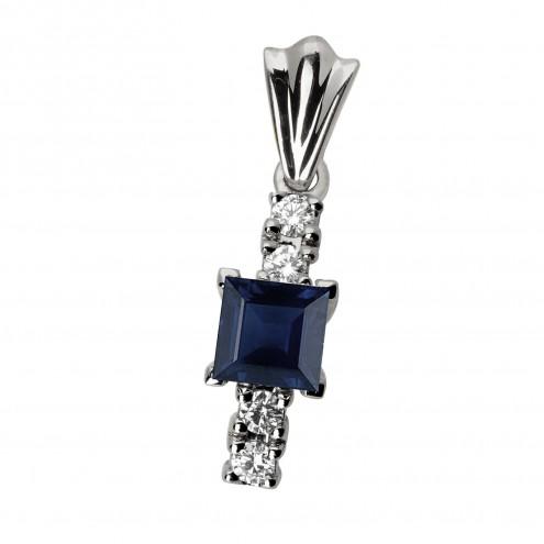 Підвіска з діамантами та кольоровим камінням 989-0391
