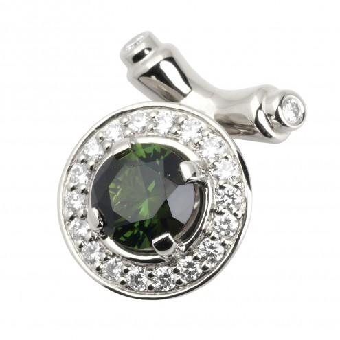 Підвіска з діамантами та кольоровим камінням 989-0527