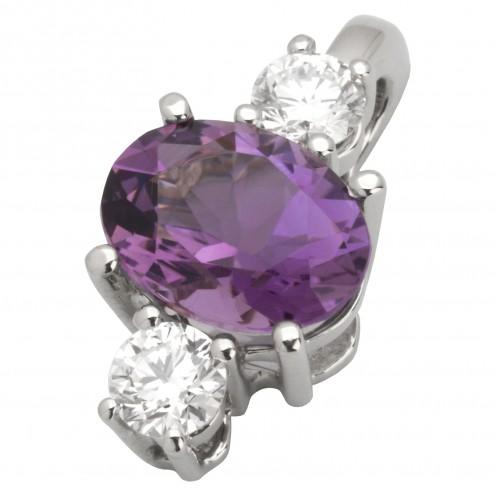 Підвіска з діамантами та кольоровим камінням 989-0541