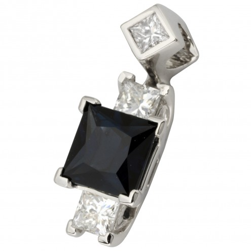Підвіска з діамантами та кольоровим камінням 989-0810