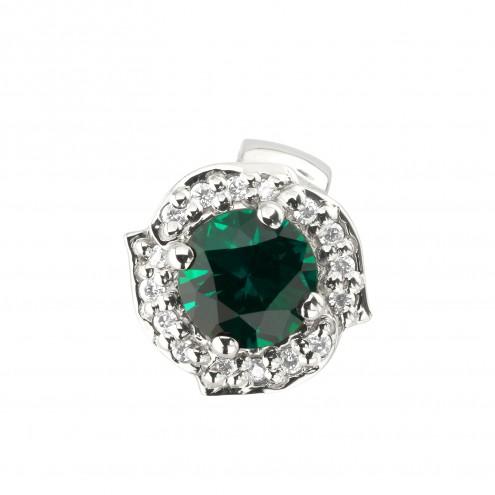 Підвіска з діамантами та кольоровим камінням 989-0824