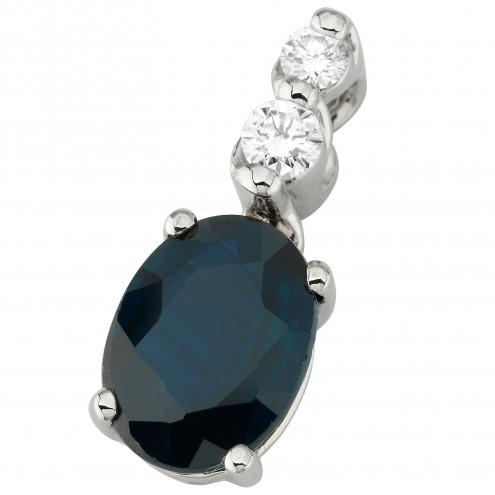 Підвіска з діамантами та кольоровим камінням 989-0828