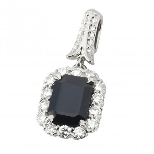 Підвіска з діамантами та кольоровим камінням 989-0855
