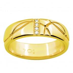 Обручка з декількома діамантами 041-1524