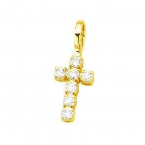 Хрест з декількома діамантами 049-4000
