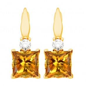 Сережки з діамантами та кольоровим камінням 082-1241