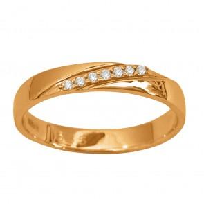 Обручка з декількома діамантами 141-1517